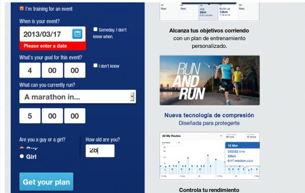 Compromiso en la web de la Maraton de Barcelona