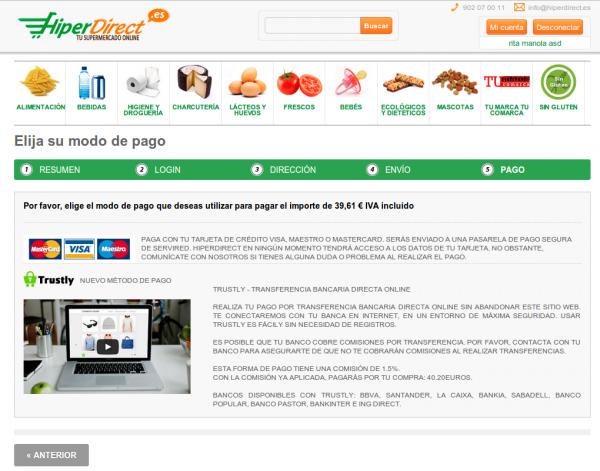 Página de Pago de HiperDirect.es
