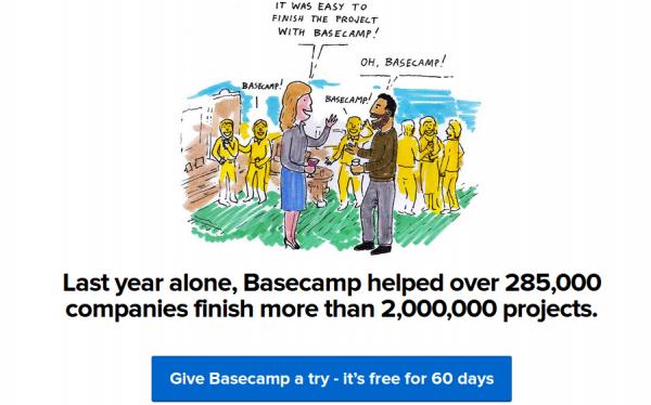 Aprobacion social de Basecamp - Número de Clientes