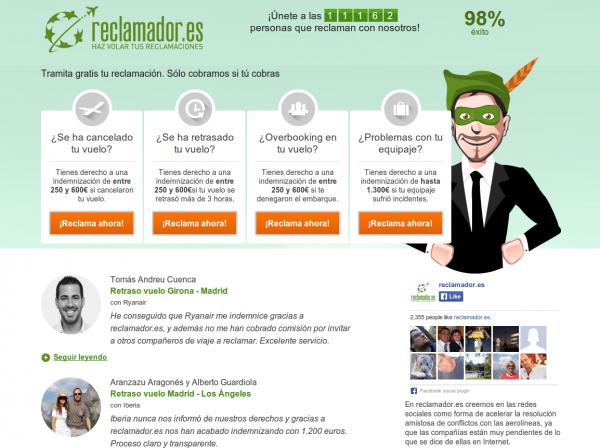 Brillante Uso de la Aprobación social de Reclamador.es